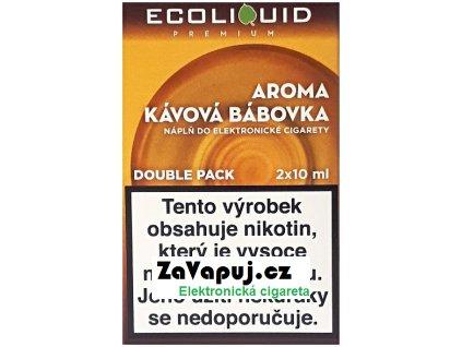 Liquid Ecoliquid Premium 2Pack Coffee Cake 2x10ml - 0mg