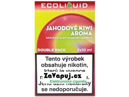 Liquid Ecoliquid Premium 2Pack Strawberry Kiwi 2x10ml - 0mg