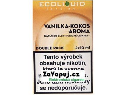 Liquid Ecoliquid Premium 2Pack Vanilla Coconut 2x10ml - 0mg
