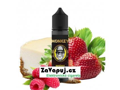Příchuť Monkey S&V Seržant (Cheesecake s jahodovo malinovým topingem) 12ml