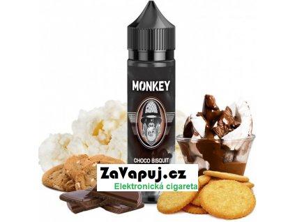 Příchuť MONKEY liquid Shake and Vape Choco Bisquit (Pralinková sušenka s tvarohem) 12ml
