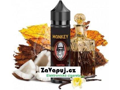 Příchuť MONKEY liquid Shake and Vape Kapitán (Jemný tabák s kokosem a bourbonem)12ml