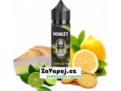 Příchuť MONKEY liquid Shake and Vape Lemon Lady V2 (Citronový koláč) 12ml