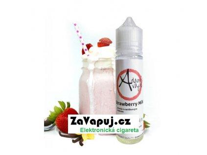Příchuť Adams vape Shake & Vape Strawberry Milk (Vanilkovo jahodové mléko) 12ml