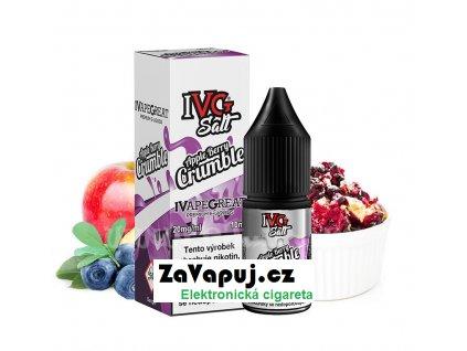 E liquid IVG Salt 10ml 10mg Apple Berry Crumble (Jablečný koláč s bobulemi)
