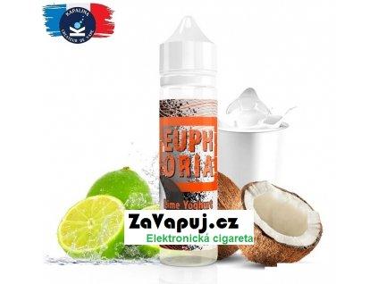 Příchuť Kapalina Euphoria Shake and Vape Lime Yoghurt Coconut 10ml