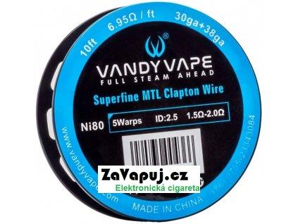 Vandy Vape Superfine MTL Clapton odporový drát Ni80 3m