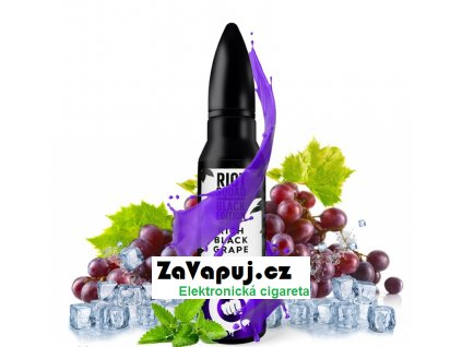 Příchuť Riot Squad Black Edition Shake & Vape Rich Black Grape (Hroznové víno s mátou) 20ml