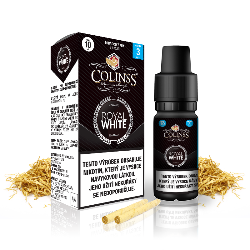 Liquid Colinss: Royal White (Cigaretový tabák) 10ml 6mg