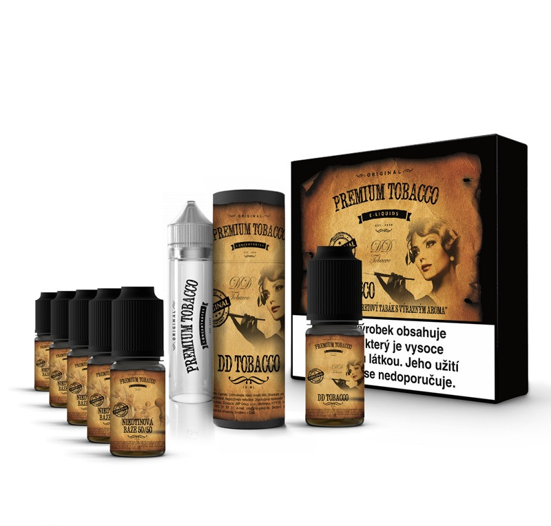 Liquid Premium Tobacco - DD Tobacco 6x10ml 12mg