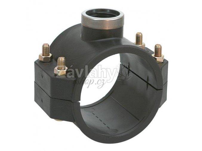 "Navrtávací sedlo 75-110mm s ocel. kroužkem, PN 10-16 / 110x2"", PN10"