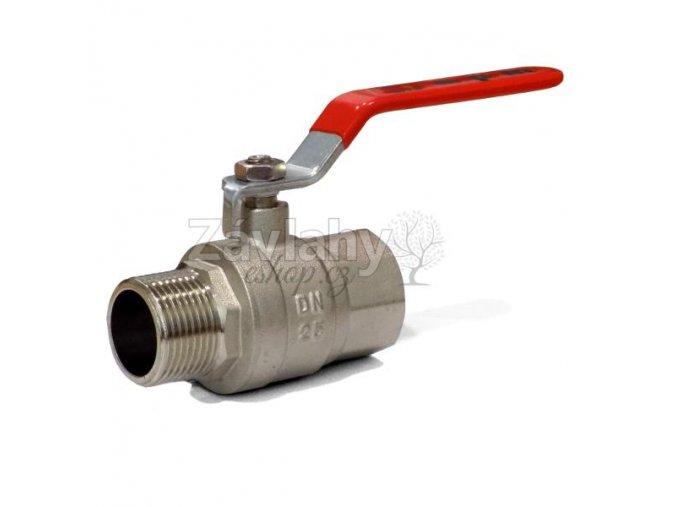 """Kulový ventil MF s pákou - dlouhý závit / připojení 1"""""""