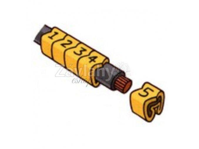 Návlečky na kabely - sada čísla / písmeno P