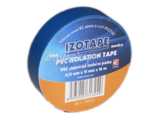 Izolační páska 15 mm modrá, 10 m