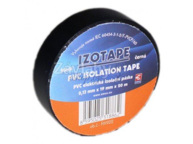 Izolační páska 19 mm zelená, 20 m