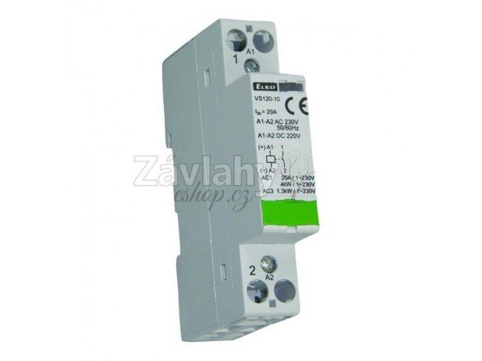 Stykač VS 120-10, do 20 A (AC1), ovládání 230 V AC