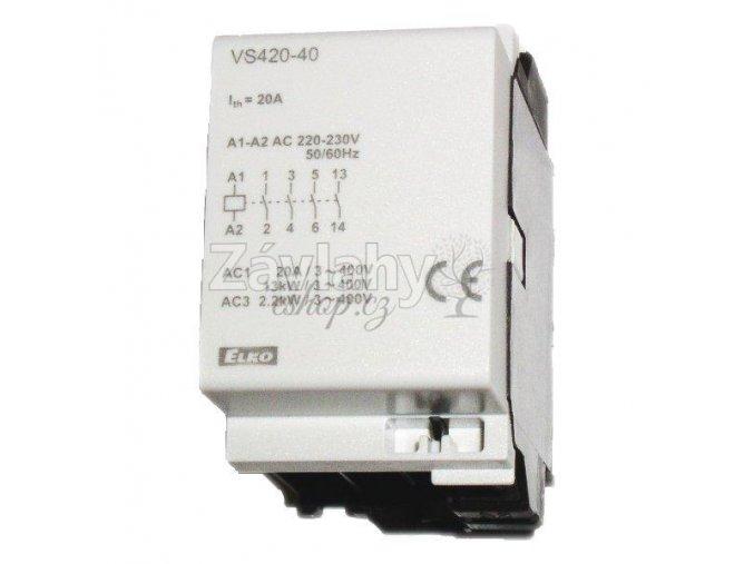 Stykač VS 420, 4x20 A, 230 V AC
