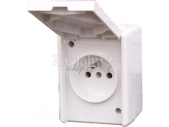 Venkovní zásuvka 230V bílá