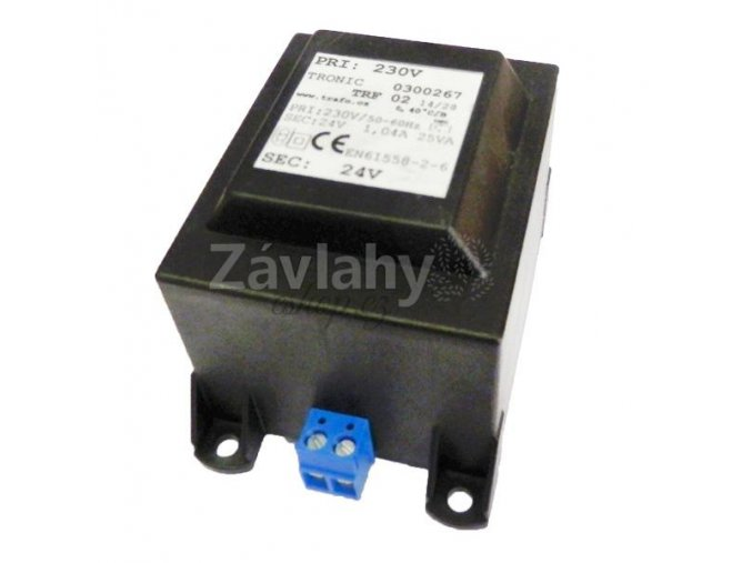 Transformátor na DIN lištu 230 V / 24 V AC, 25 VA