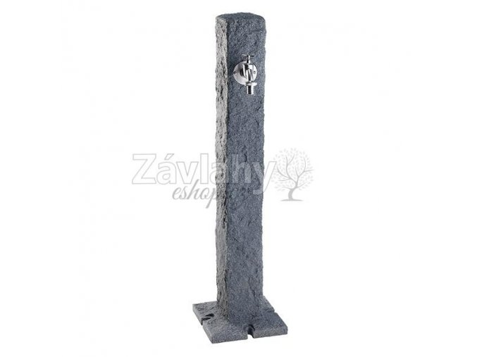 Zahradní sloupkový hydrant imitace tmavý kámen STONE
