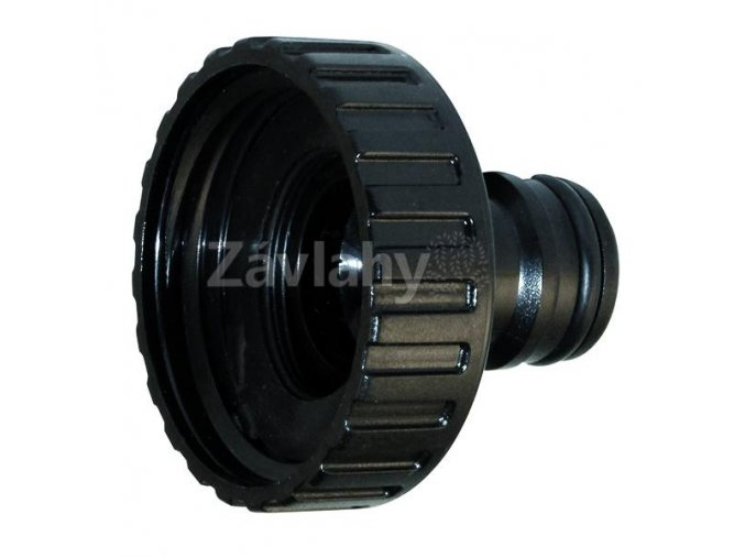 Plastový hadicový adaptér s vnitřním závitem, černý