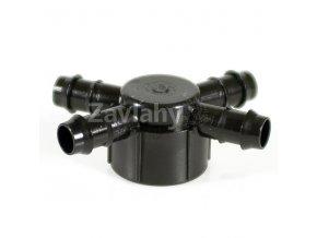 """Hlavice 1"""" se 6 vývody pro Tandem-GDF 16 mm, ABS"""
