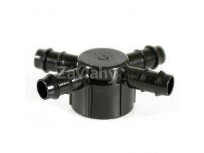 """Hlavice 1"""" se 4 vývody pro Tandem-GDF 16 mm, ABS"""