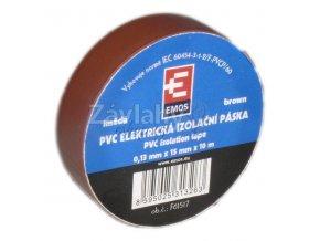 Izolační páska 15 mm hnědá, 10 m