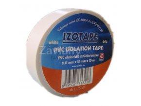Izolační páska 15 mm bílá, 10 m