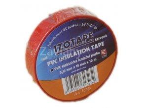 Izolační páska 15 mm červená, 10 m