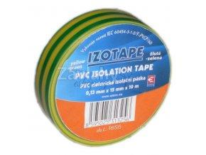 Izolační páska 15 mm žlutozelená, 10 m