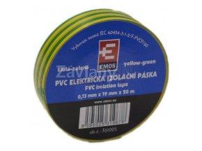 Izolační páska 19 mm žlutozelená, 20 m