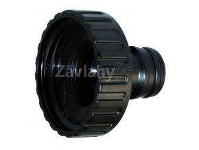 """Plastový hadicový adaptér s vnitřním závitem, černý / 1/2"""" F"""
