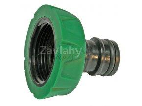 Plastový hadicový adaptér s vnitřním závitem, zelený