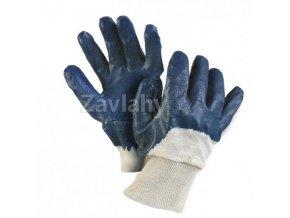 Polomáčané nitrilové rukavice