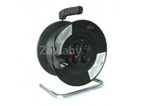 Prodlužovací kabel 25m černý 3x1,5mm², 4x zásuvka, lomený