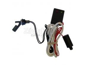 Plovákový elektromechanický spínač s ochranou a zpožděním 5 sec - boční