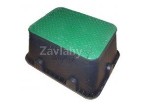 JUMBO - ventilová šachtice PC, zelené víko