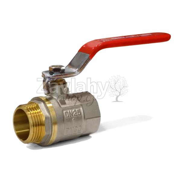 """Kulový ventil MF s pákou - krátký závit Typ: připojení 1/2"""""""