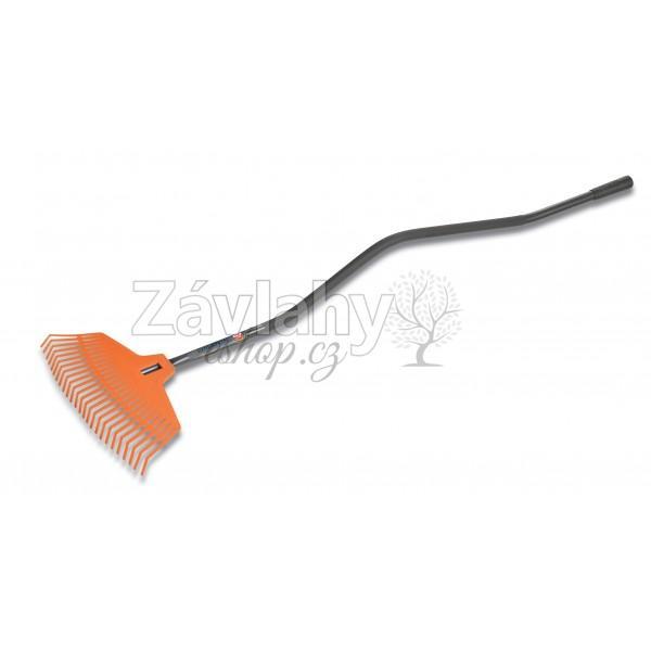 Plastové hrábě na listí s ergonomickou násadou