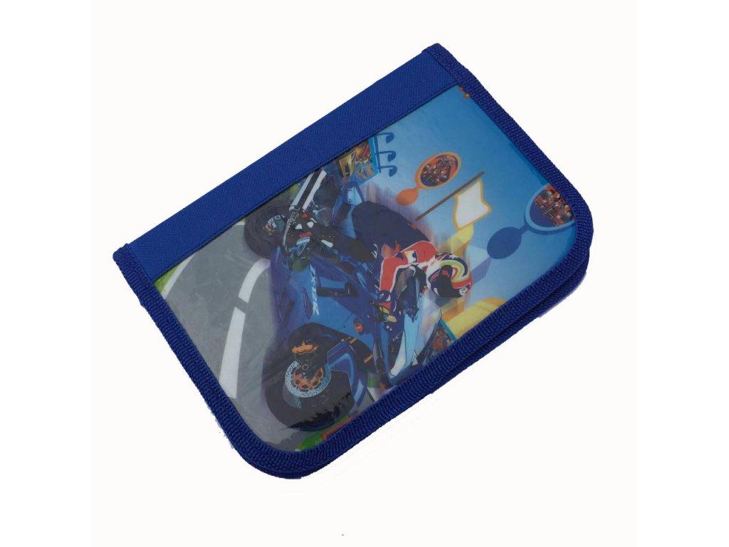 malý modrý motorka