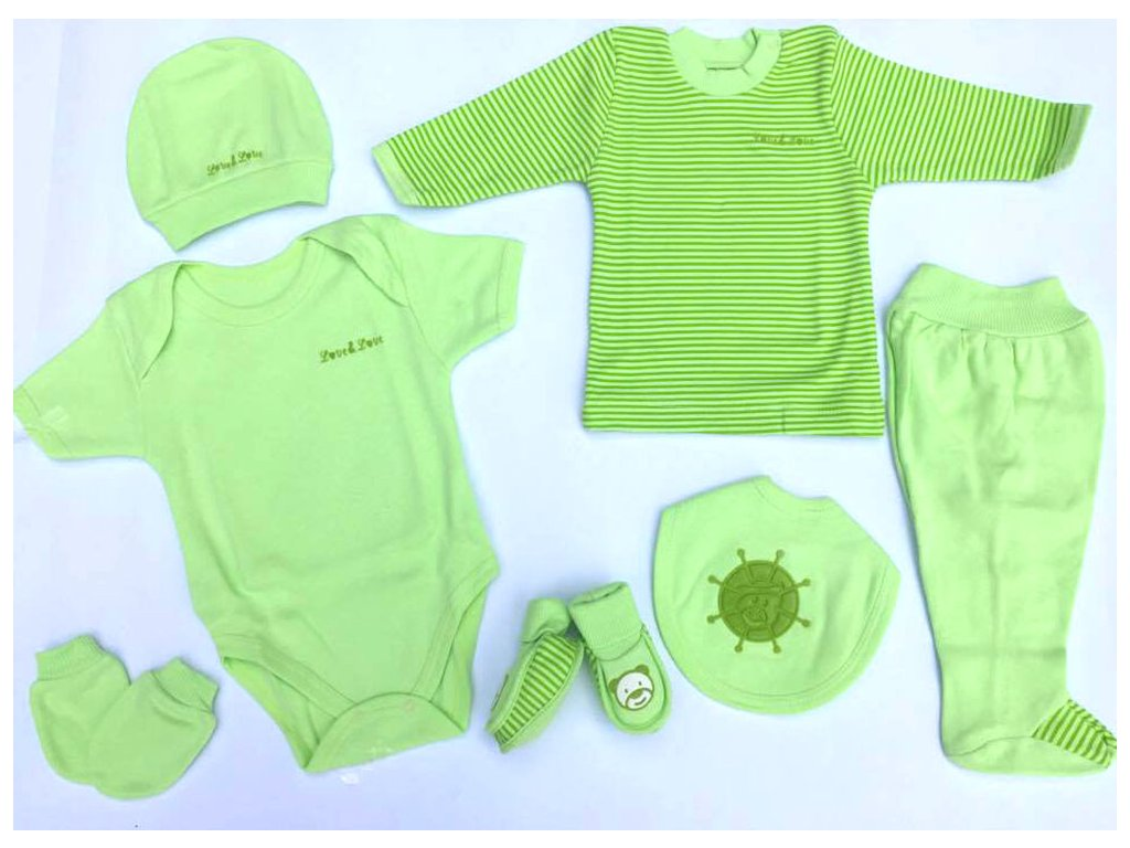 set zelený