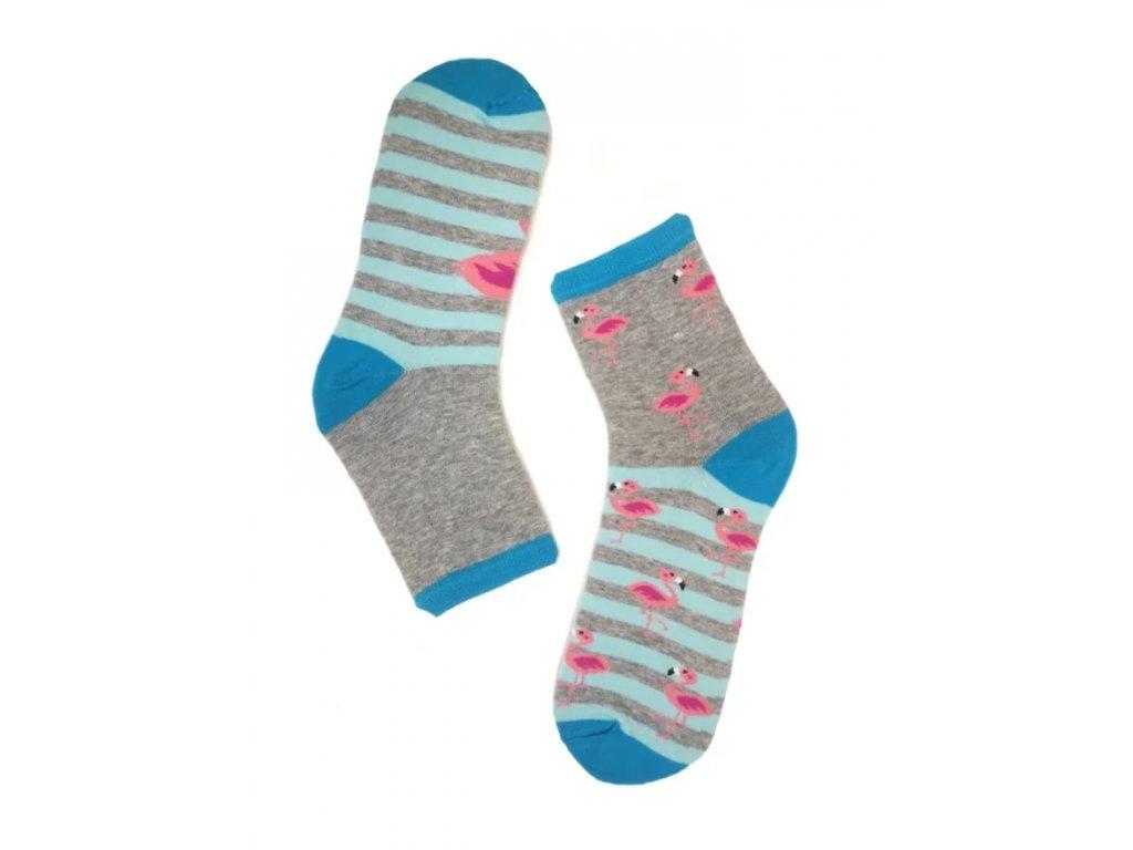 Dámské ponožky plameňáci
