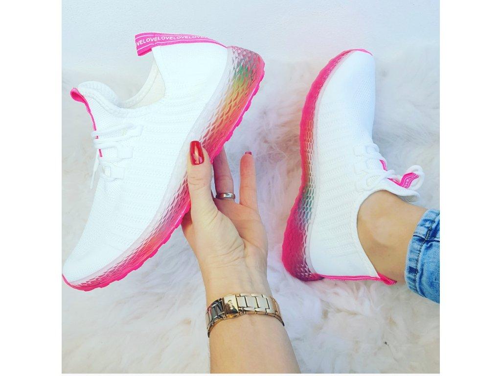 lehké tenisky bílo růžové