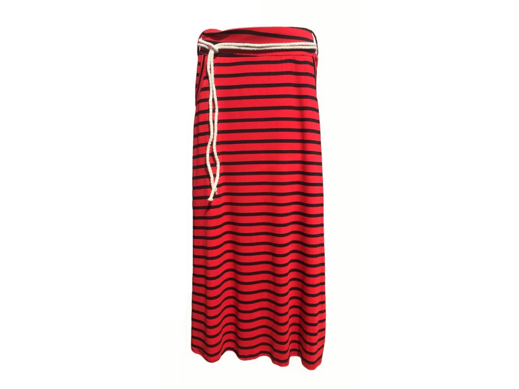Dámská dlouhá sukně červená