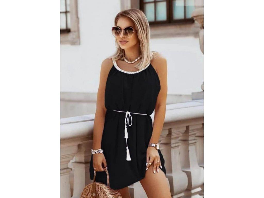 šaty krátké černé
