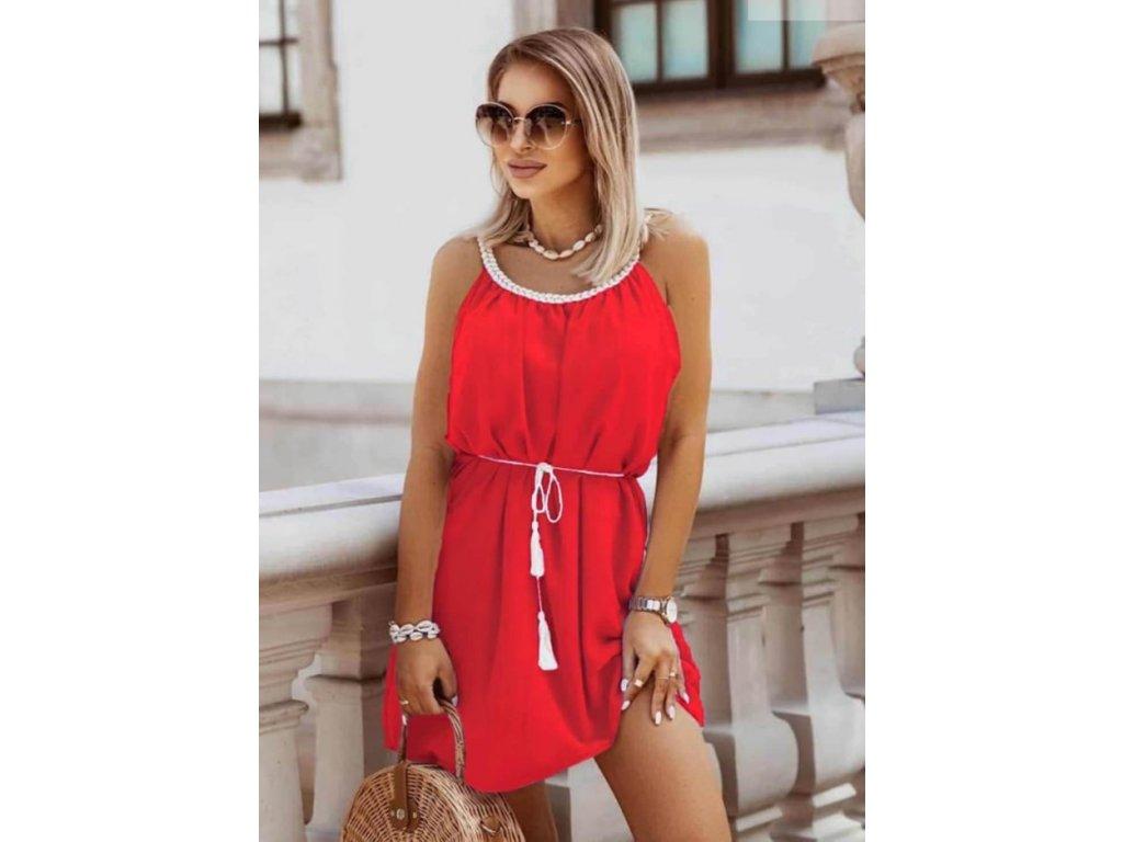 šaty krátké červené
