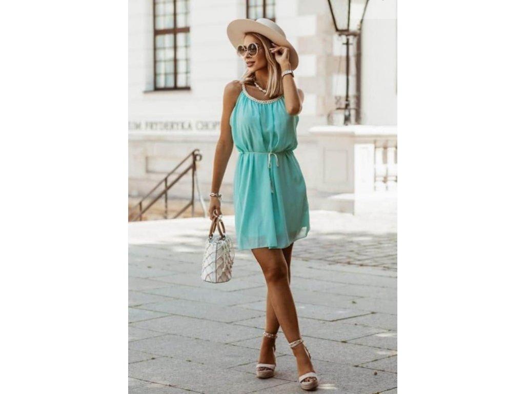 šaty krátké mint