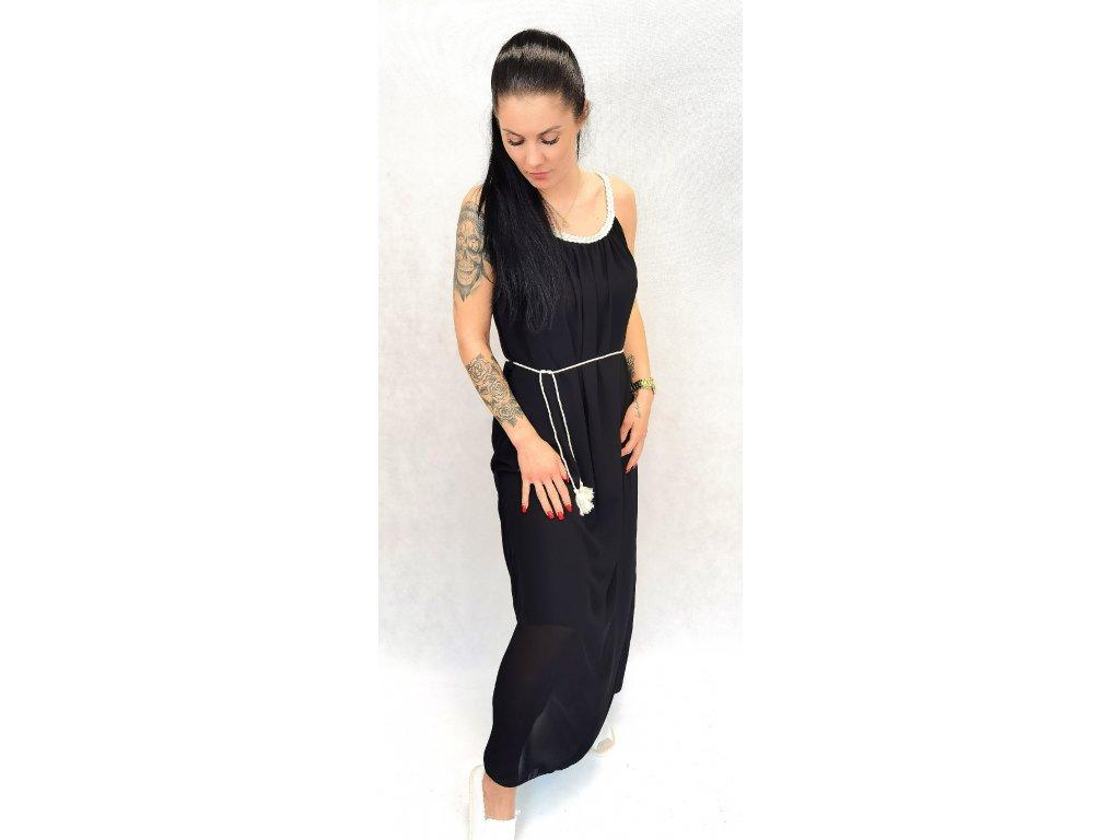 Lehké letní šaty černé