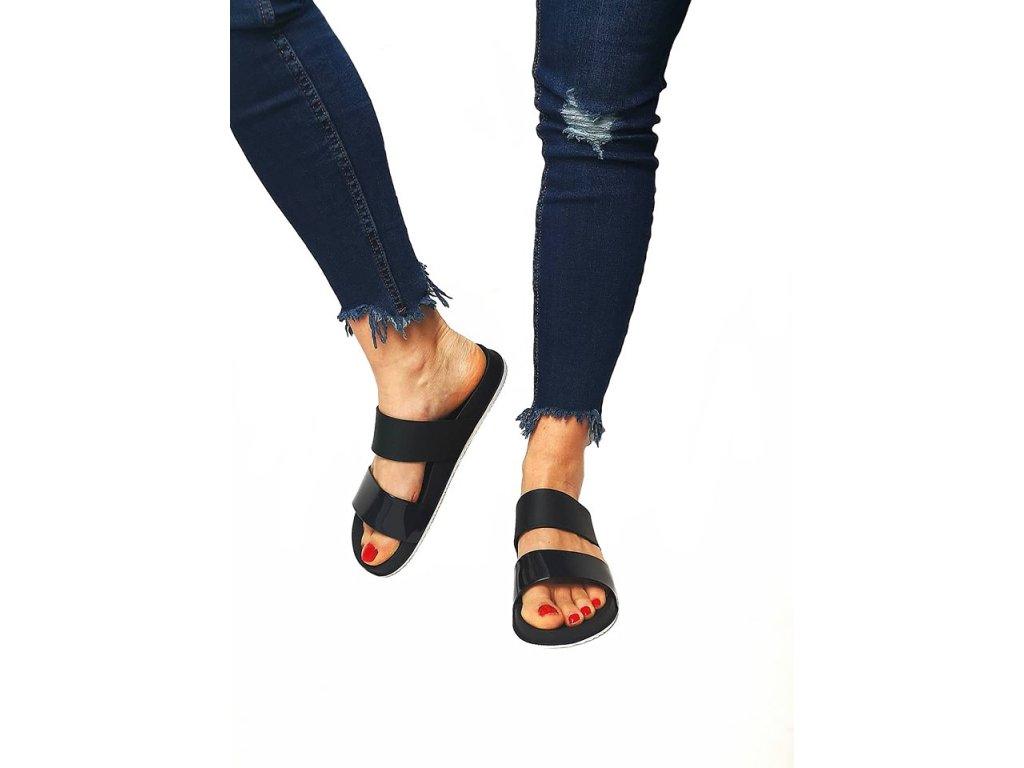 pantofle pásek černé